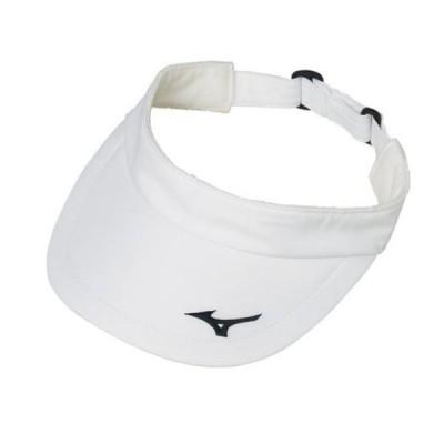 ミズノ サンバイザー ユニセックス 62JW8101 01 ホワイト フリーサイズ 52-57cm