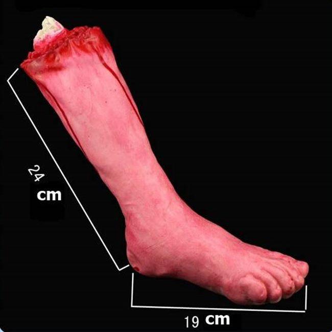 假腿 斷腿 萬聖節 高質量 仿真 假 斷腳(中號) 假腳 血腳印 搞怪/惡搞/尾牙/變裝【塔克】