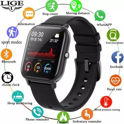 Ligeメンズ レディース  P8接続スポーツウォッチ,スマートウォッチ,防水ipx7,LEDタッチスクリーン付き,AndroidとiOS適しています
