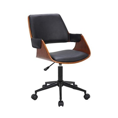 Porthos Home Deluxe Bentwood Office Chairs with Arms, Comfy, Luxurious Modern Office Seating with Dual Caster Wheels, 360 Degree Swivel, Height Adjust
