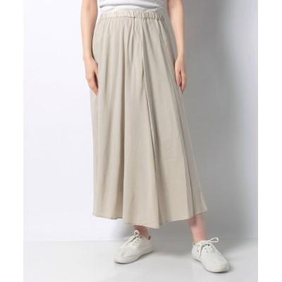 【プレフェリール】 リネン混ギャザースカート レディース ベージュ 40 PREFERIR