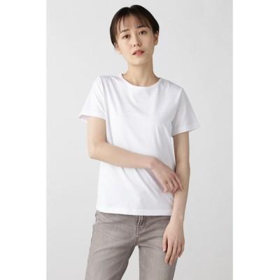 (HUMAN WOMAN/ヒューマンウーマン)コットンTシャツ/レディース シロ