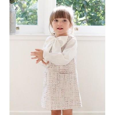 (Rora/ローラ)Rora マオ ツイード ジャンパースカート/ ホワイト