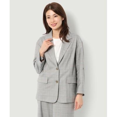 McGREGOR / ビッグショルダーチェックジャケット WOMEN ジャケット/アウター > テーラードジャケット