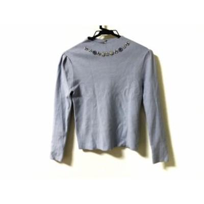 トッカ TOCCA 長袖セーター サイズXS レディース - ライトブルー ハイネック/ビジュー【中古】20200503