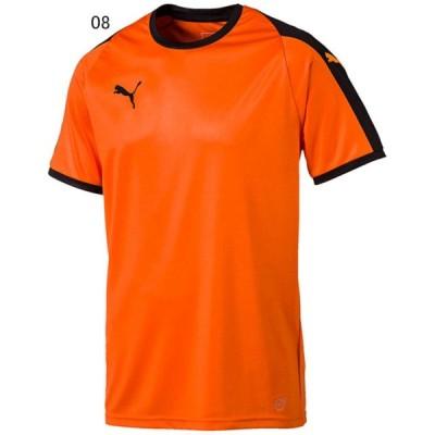 プーマ サッカー ユニフォーム ゲームシャツ LIGA ゲームシャツ ゴールデンポピー×ブラック 08 PU-703637-08