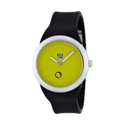 Zoom Sunday Lime Green Dial Black Rubber Strap Gents Watch ZM.3755M.9511 並行輸入品
