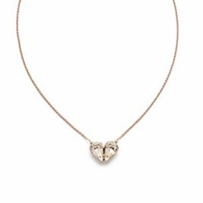 Sorrelli Valentina Pendant Necklace, Rose Gold-Tone Finish, Crystal, One Size (NEM10RGCRY)