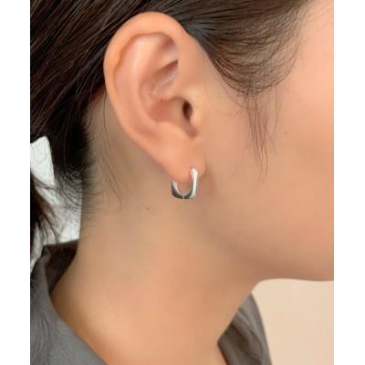 wears / silver925 スクエアフープピアス WOMEN アクセサリー > ピアス(両耳用)