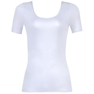 WACOAL 綿100% [シルキーコトン]  トップス(3分袖)(CLC230) オリエンタルブルー L