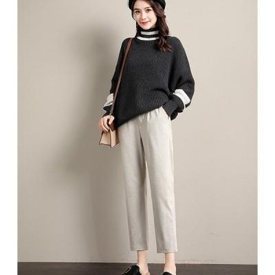 大きいサイズM-4XL ファッションパンツ アンズ/ブラック2色展開