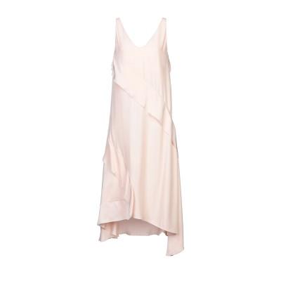 セドリック シャルリエ CEDRIC CHARLIER 7分丈ワンピース・ドレス ライトピンク 42 レーヨン 100% 7分丈ワンピース・ドレス