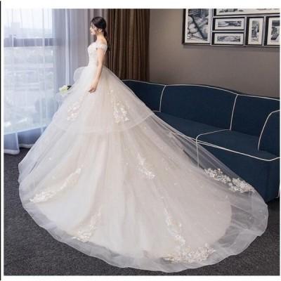 ブライダル 冠婚 ワンピース 大きいサイズ 結婚式 花嫁 二次会 パーティードレス  プリンセスライン ウエディングドレス ロング丈 綺麗 きれいめ レースアップ