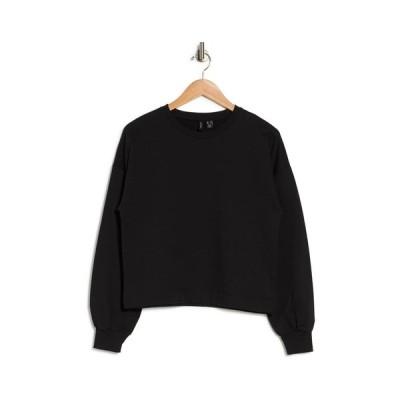 ヴェロモーダ レディース パーカー・スウェットシャツ アウター Camen Dolman Crop Sweatshirt BLACK