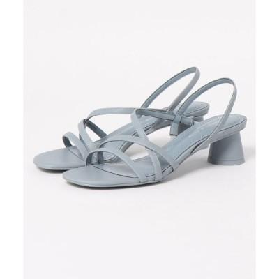 サンダル ストラッピー シリンドリカルヒールサンダル / Strappy Cylindrical Heel Sandals