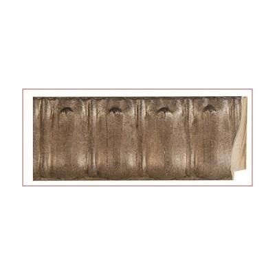 """Picture Frame Moulding (Wood) 100ft Bundle - Ornate Antique Silver Finish - 4.625"""" Width - 1 3/8"""" Rabbet Depth"""