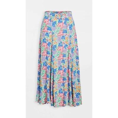 フェイスフルザブランド FAITHFULL THE BRAND レディース ひざ丈スカート スカート valensole midi skirt Jemima Floral Print