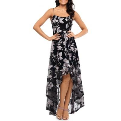 エックススケープ Xscape レディース パーティードレス ワンピース・ドレス Floral High-Low Dress