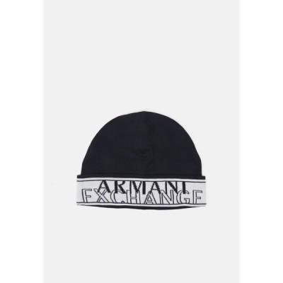 アルマーニエクスチェンジ 帽子 メンズ アクセサリー BEANIE HAT UNISEX - Beanie - navy/white
