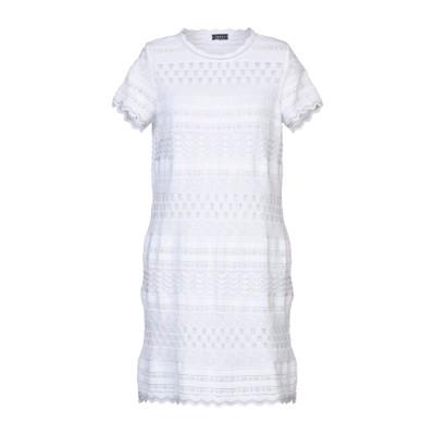 NEERA 20.52 ミニワンピース&ドレス ホワイト 44 コットン 90% / レーヨン 5% / Lurex® 5% ミニワンピース&ドレス