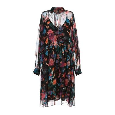 イロ IRO ミニワンピース&ドレス ブラック 34 シルク 100% ミニワンピース&ドレス