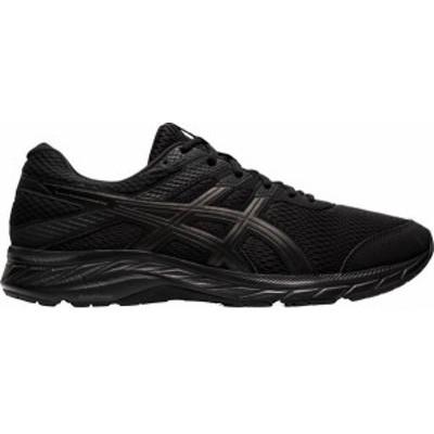 アシックス メンズ スニーカー シューズ ASICS Men's GEL-Contend 6 Running Shoes Black/Black