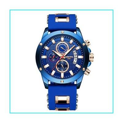 NIBOSI 腕時計 メンズ クロノグラフ ファッション 防水 クォーツ 腕時計 メンズ