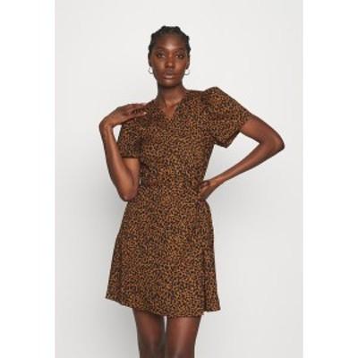 メイドウェル レディース ワンピース トップス WRAP DRESS IN LEOPARD - Day dress - brown brown