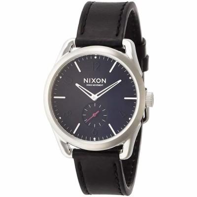 ニクソン NIXON C39 LEATHER: BLACK/RED NA459008-0 国内正規品