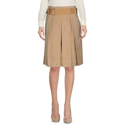 マーク ジェイコブス MARC JACOBS ひざ丈スカート サンド 2 シルク 100% ひざ丈スカート