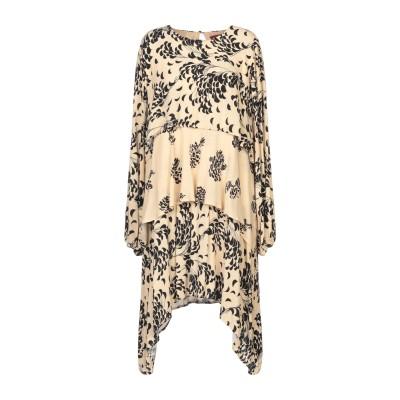 GUARDAROBA by ANIYE BY ミニワンピース&ドレス ベージュ M レーヨン 100% ミニワンピース&ドレス