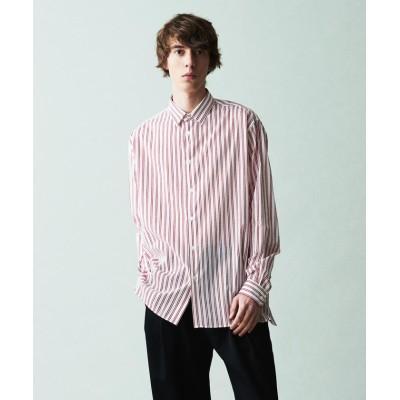 【トゥモローランド】 ストライププリント レギュラーカラー ビッグシャツ メンズ 33レッド系 F TOMORROWLAND
