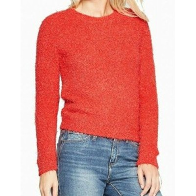 Red  ファッション トップス Living Doll NEW Red Size Medium M Junior Crewneck Eyelash Knit Sweater