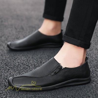 カジュアル革靴 スリッポン シューズ カジュアルシューズ 革靴  ビジネスシューズ メンズシューズ ローカットシューズ ビジネス革靴 紳士靴