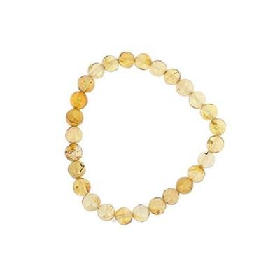 """NOVICA Amber Beaded Bracelet, 6.75"""", Gleaming Sun'好評販売中"""