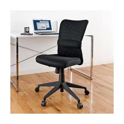 メッシュチェア オフィスチェア ミドルバック ブラック EZ15-SNC055BK ネコポス非対応