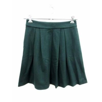 【中古】ロッソ ROSSO アーバンリサーチ スカート フレア ミニ ウール 36 緑 カーキ /YI レディース