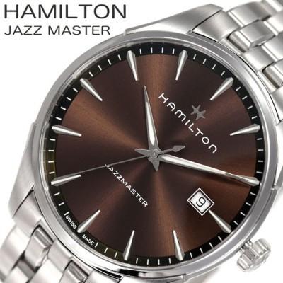 ハミルトン 腕時計 HAMILTON 時計 ジャズマスター ジェント JAZZMASTER GENT メンズ ブラウン  H32451101