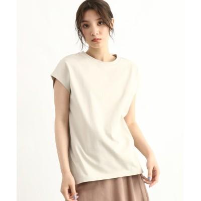 OZOC / [洗える]GIZA COTTONフレンチスリーブTシャツ WOMEN トップス > Tシャツ/カットソー