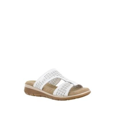 イージーストリート レディース サンダル シューズ Surry Perforated Slide Sandal - Multiple Widths Available WHITE