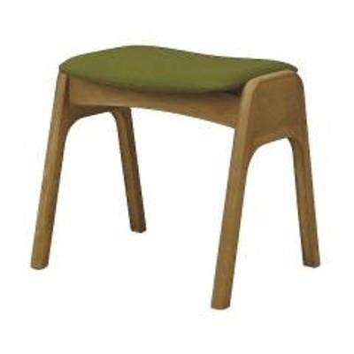 スツール 2脚セット スタッキング 高さ41cm 木製 PVC 積み重ね 椅子 イス 腰掛 ナチュラル×グリーン