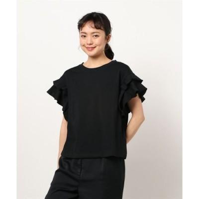 tシャツ Tシャツ 袖フリル/トップス