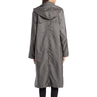 モンクレール MONCLER レディース トレンチコート フード アウター Vanille Tie Hood Water Resistant Trench Coat Grey
