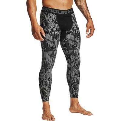 アンダーアーマー カジュアルパンツ ボトムス メンズ Under Armour Men's HeatGear Armour 2.0 Printed Leggings (Regular and Big & Tall) Black/Black