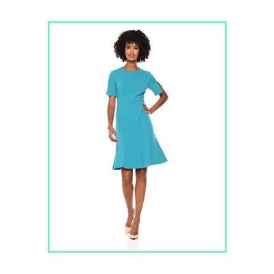 Donna Morgan Women's Split Sleeve Fit and Flare Dress, Midnight Teal, 14並行輸入品