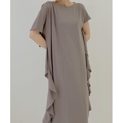 【ミエリ インヴァリアント】 Scale Ruffle Cut Dress レディース モカ F(フリーサイズ) MIELI INVARIANT