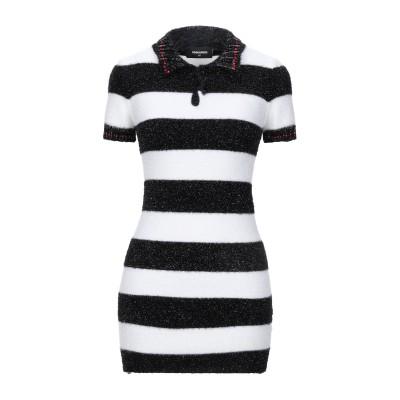 ディースクエアード DSQUARED2 ミニワンピース&ドレス ブラック XS ナイロン 51% / レーヨン 40% / ポリエステル 8% /