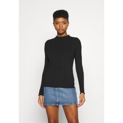 ピーシーズ カットソー レディース トップス PCTULLE - Long sleeved top - black