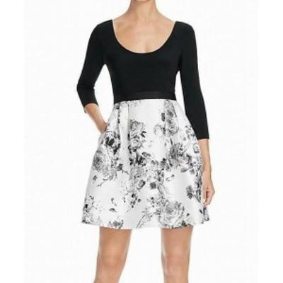 Adrianna Papell アドリアーナ パペル ファッション ドレス Adrianna Papell NEW White Womens Size 12 Scoop Neck Sheath Dress