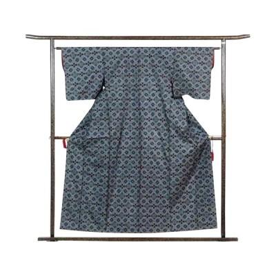 リサイクル着物 紬 正絹黒地袷大島紬アンサンブル未着用品